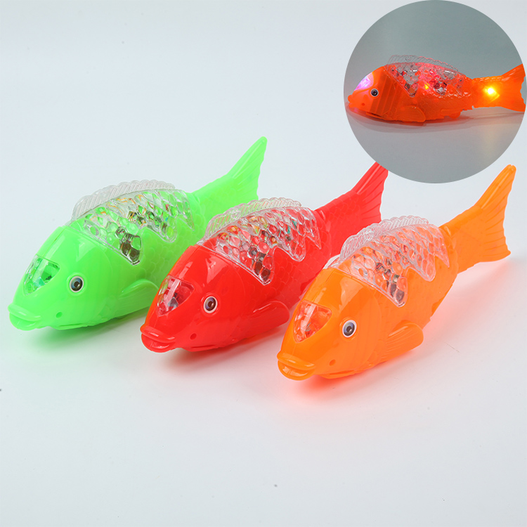 Electric Flah Of Light Fish Toy For Kids - Multicolor