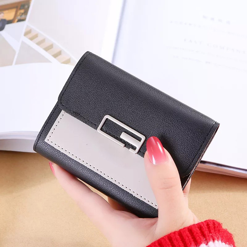 Small Ladies Mini Trifold Short Wallet for Women and Girls