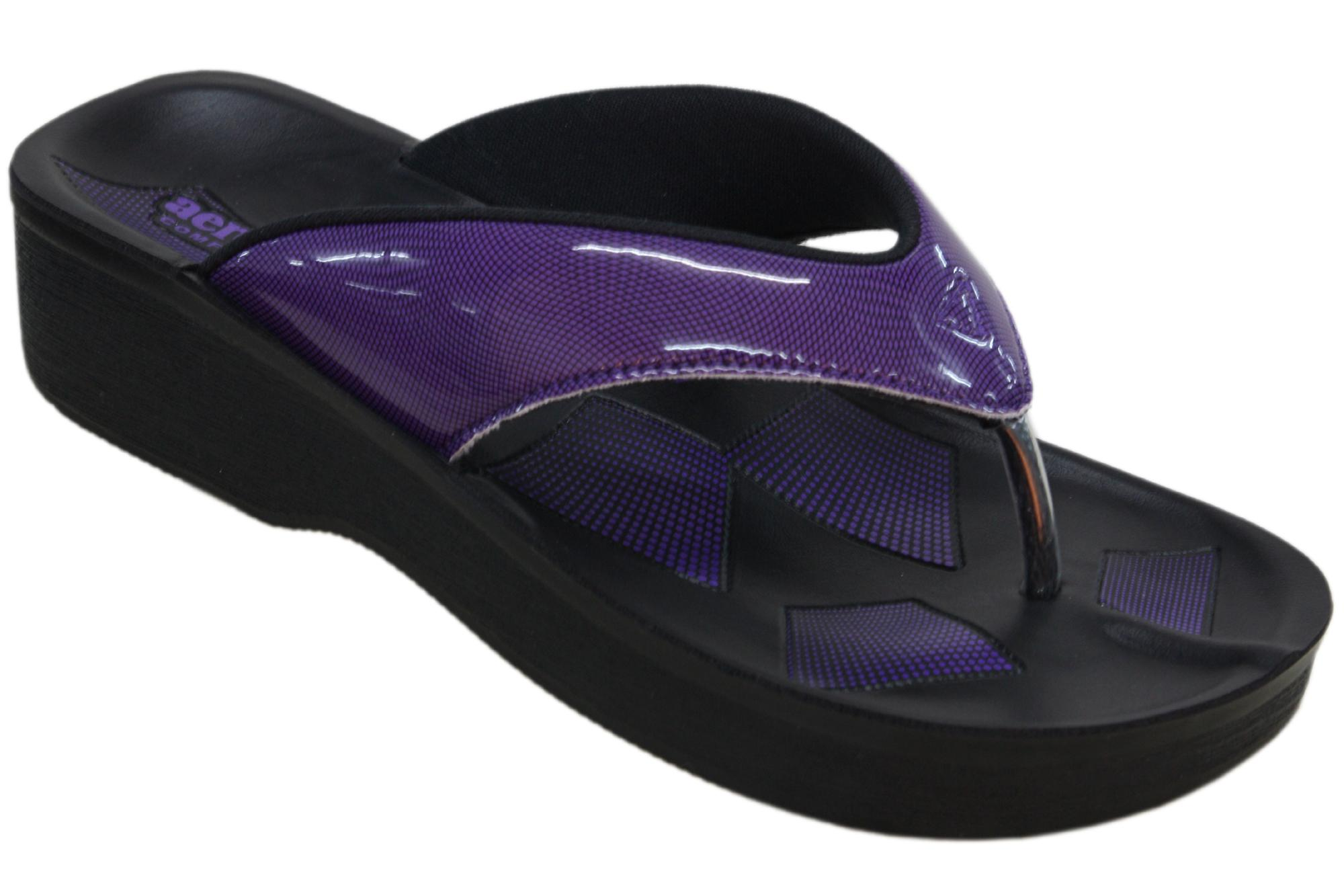 Aerosoft Synthetic Leather Slippers For Women A0897