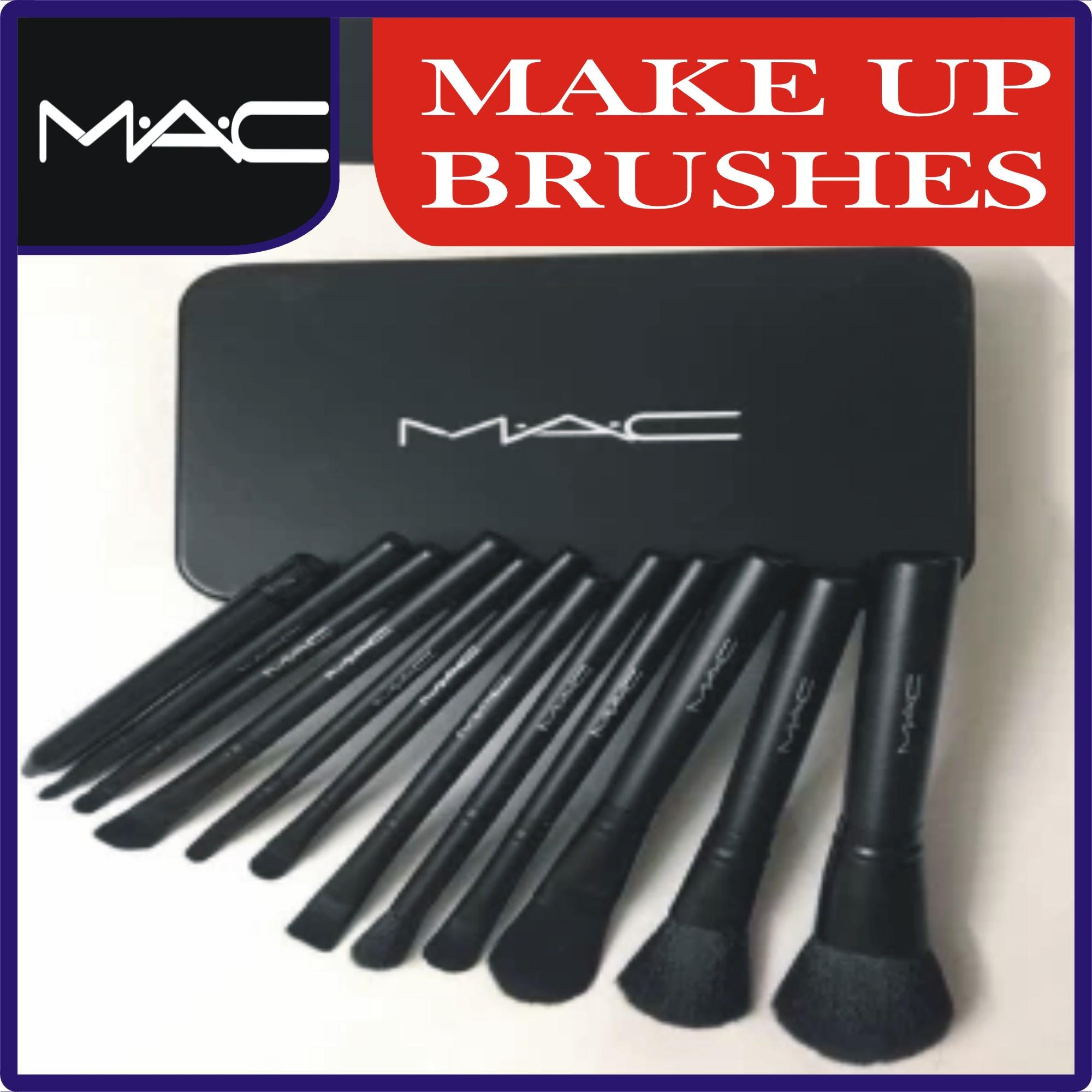 M.A.C Makeup Brush Set 12 Pcs Set in Steel Box