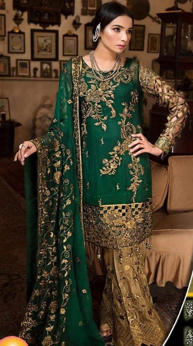 Fabiha Collection Bridal Women Unstittched Dress Wedding Wear