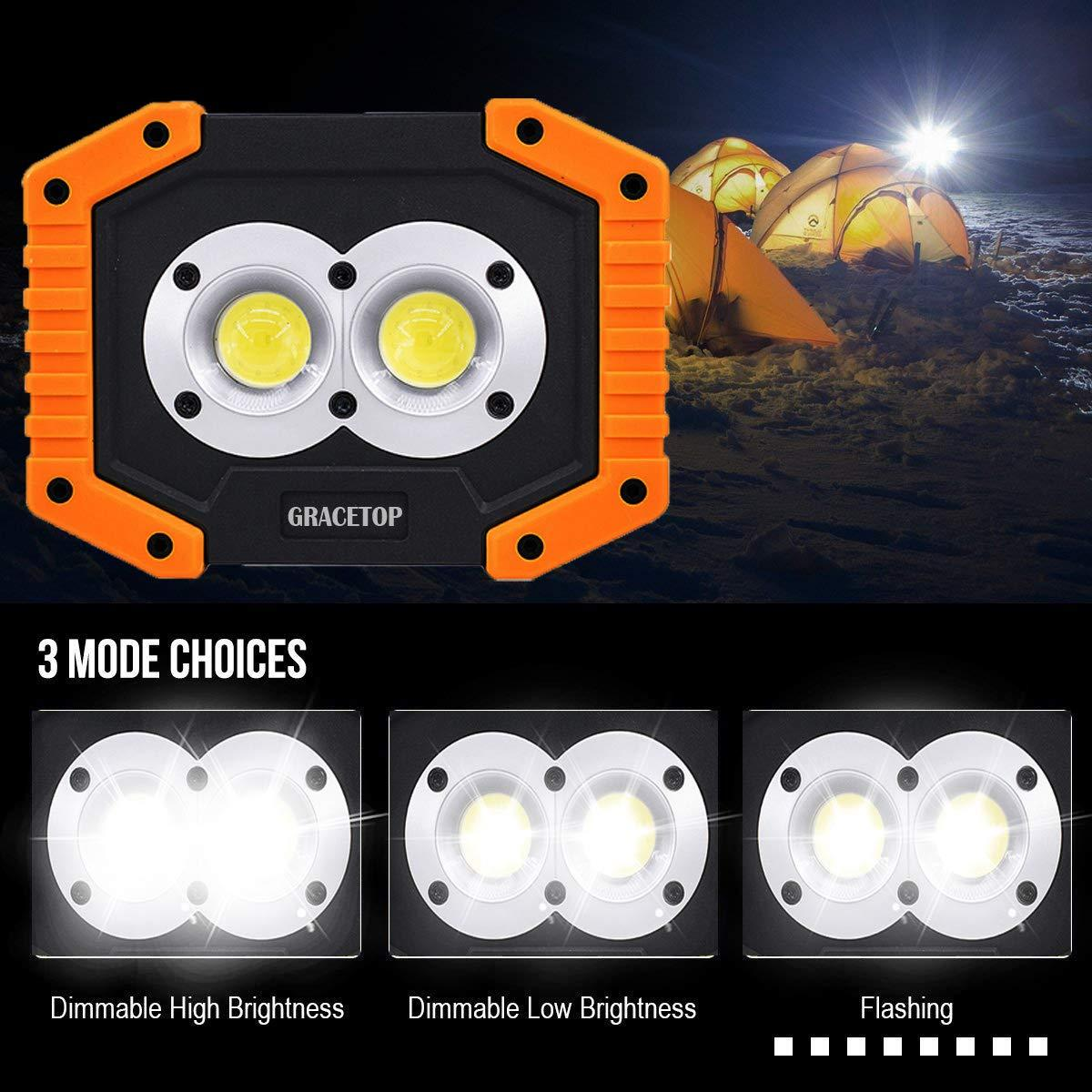 20w Cob Led Rechargeable Work Light Super Bright Floodlight