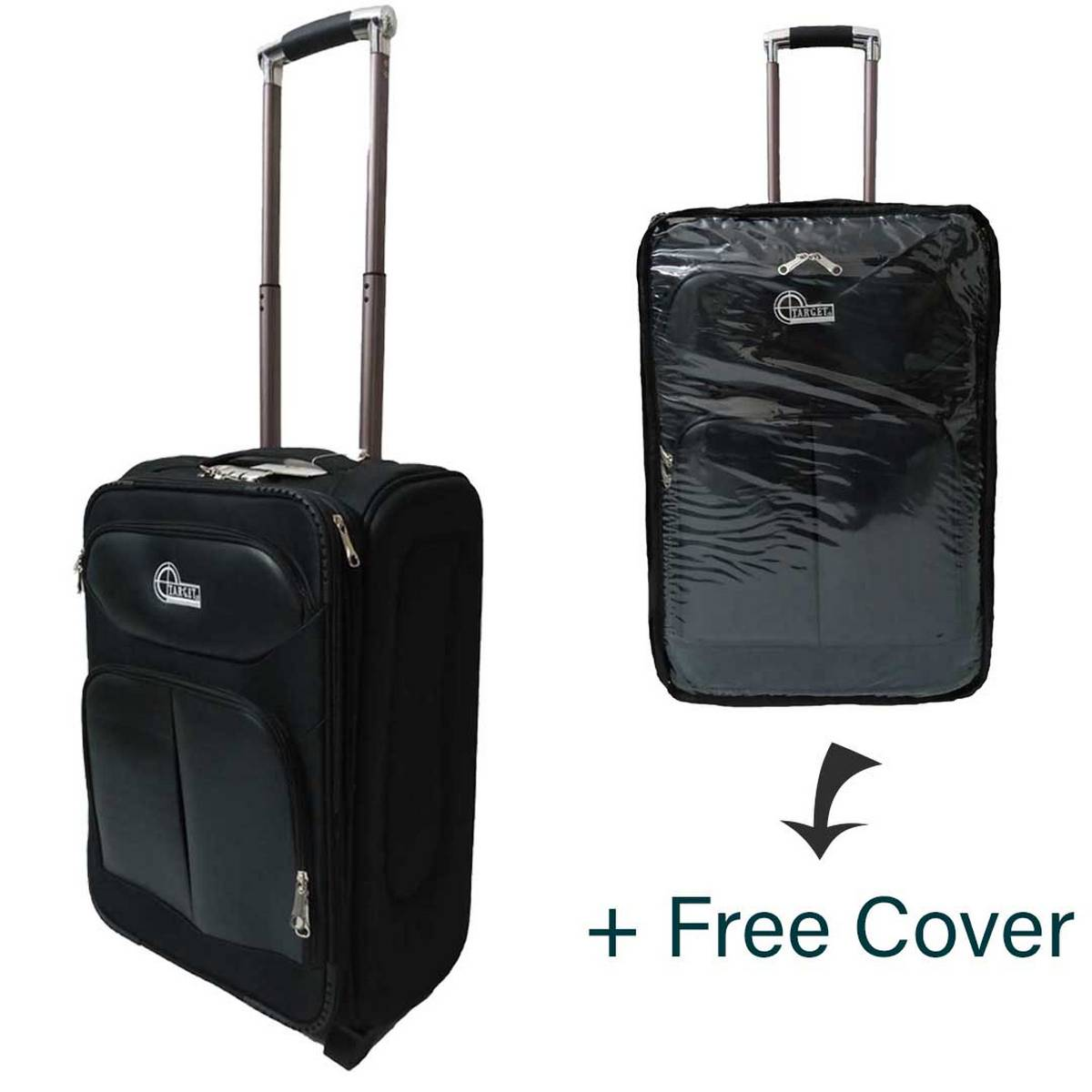 20 inch Travel Trolley Suitcase with Protective Cover