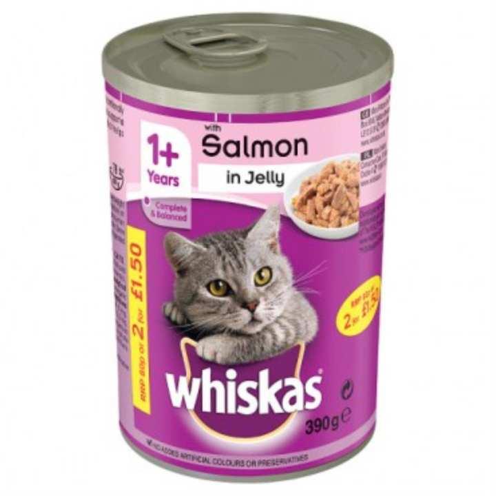 Whiskas Salmon Tin 390gm