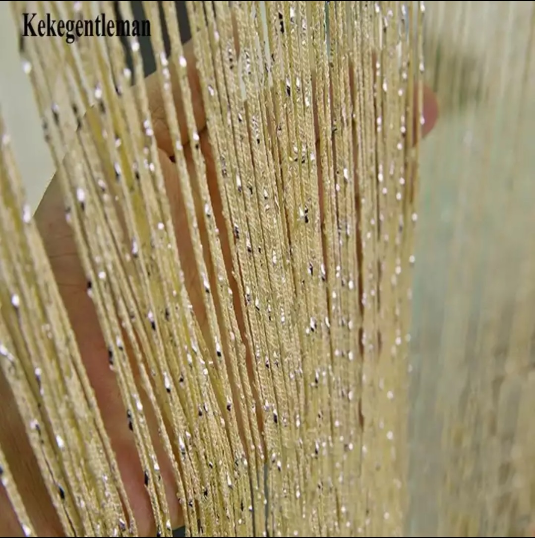 Beautiful Bead Curtain Golden and Brown