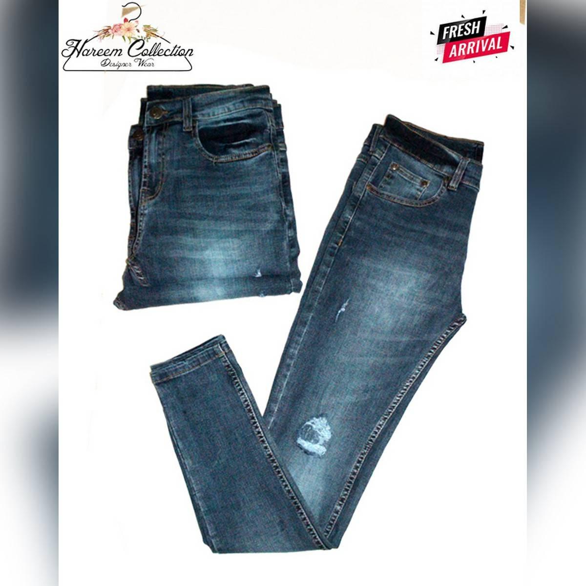 Blue Denim Stretchable Jeans For Men's