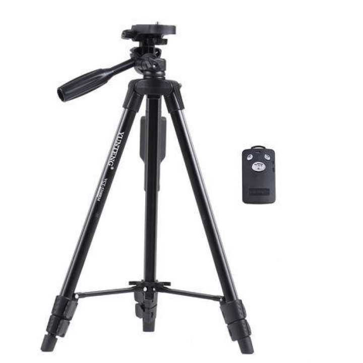Vct5218 Professional Camera Tripod Portable For Camera And Mobile Phones Photograph in Black