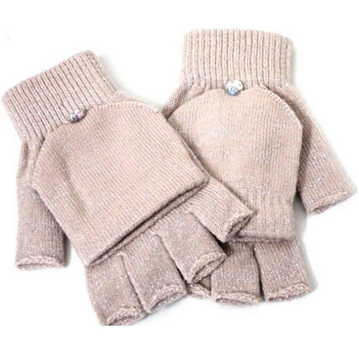 Women Winter Airsoft Mittens Hand Warmer Wool Gloves