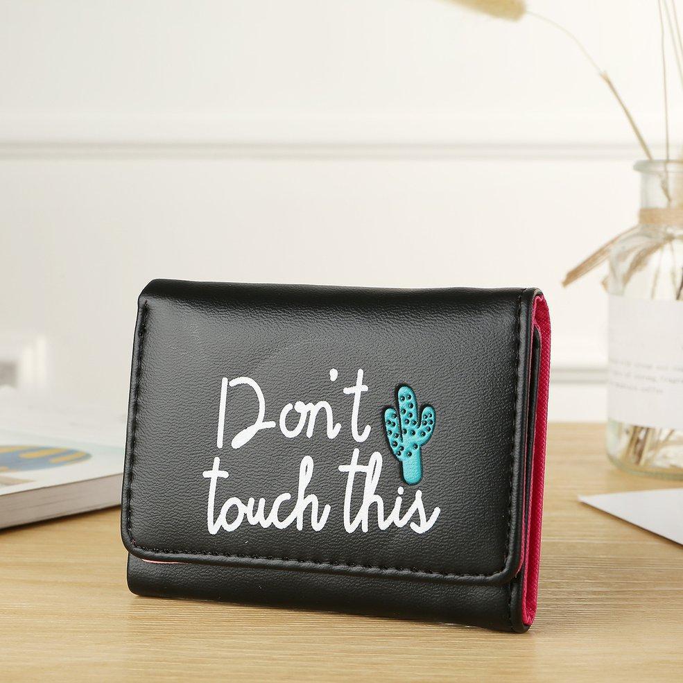 1f7ad35cca10 Short Women's Wallet Cartoon 3 Fold PU Leather Letter Card Bag Wallet Purse