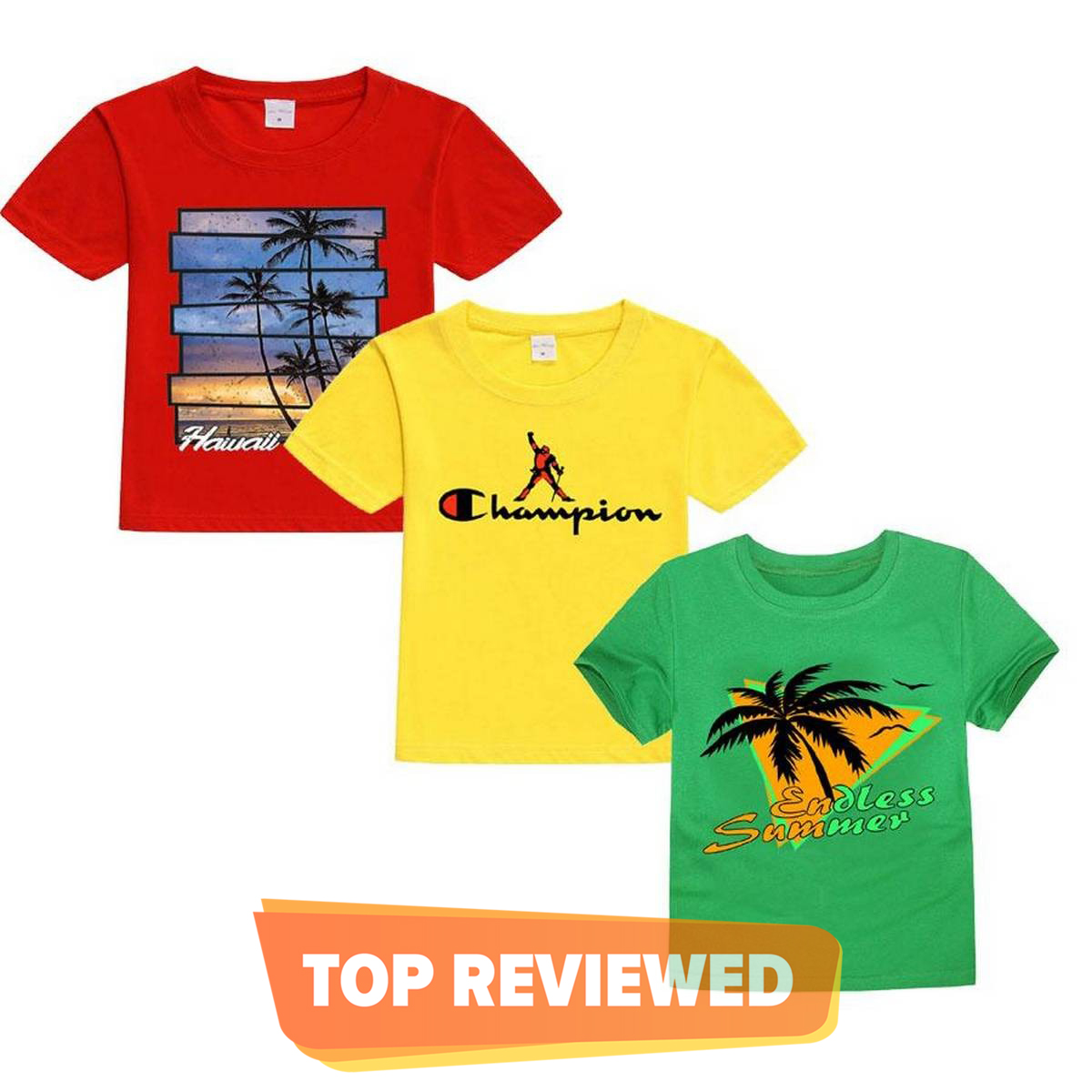 Pack 3 Smart Printed T-Shirts For Kids