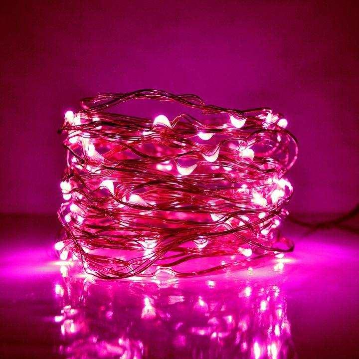 Fairy LED Light String Decoration Light Led Still - 25 Feet Long - Pink - Christmases Lights