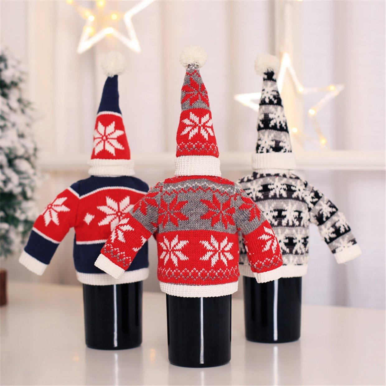 Lala Bottle Cover With Hat Christmas Wine Decor Portable Cloth Buy