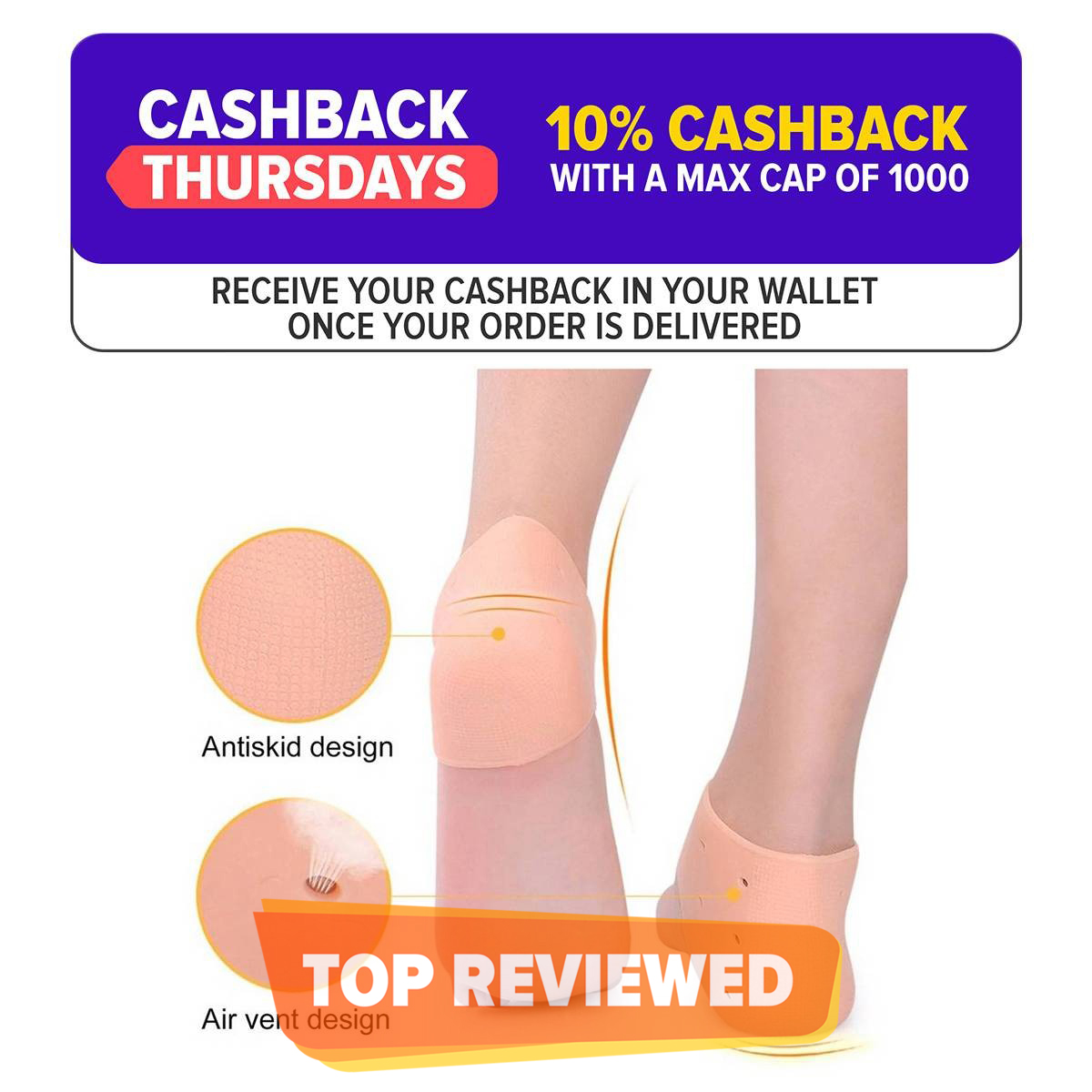 Silicone Feet Skin Care Anti Crack Socks
