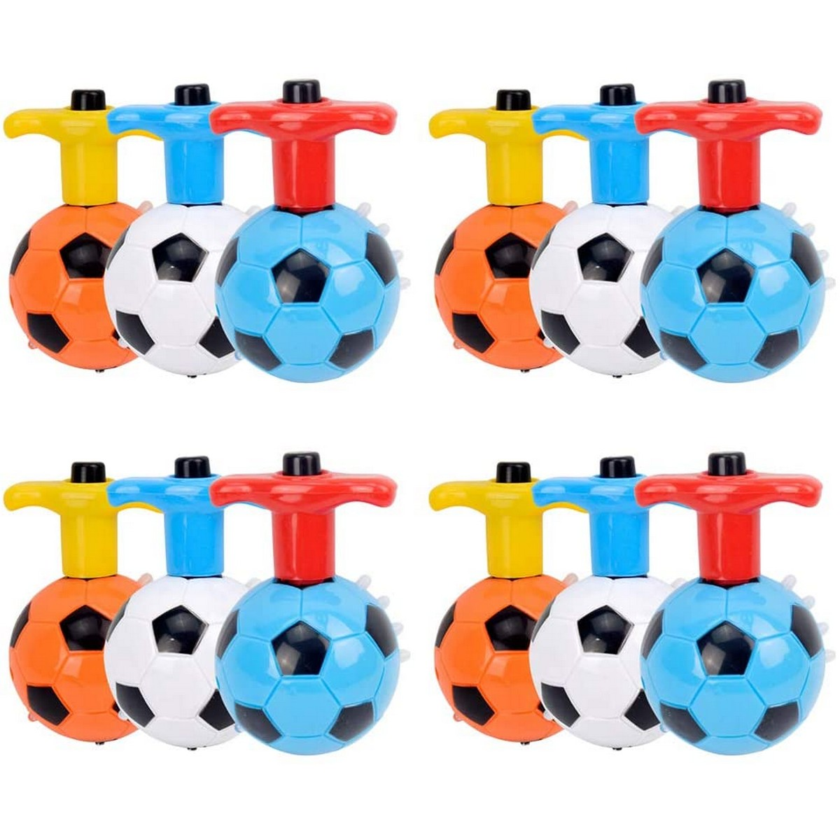 Flashing Football Spinning Top Set with Gyro Light and Music For kids