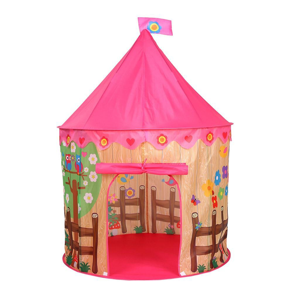 new arrival 5617c 76445 Play Tent Prince Pricess Folding Children Castle Cubby Play House(Flower)