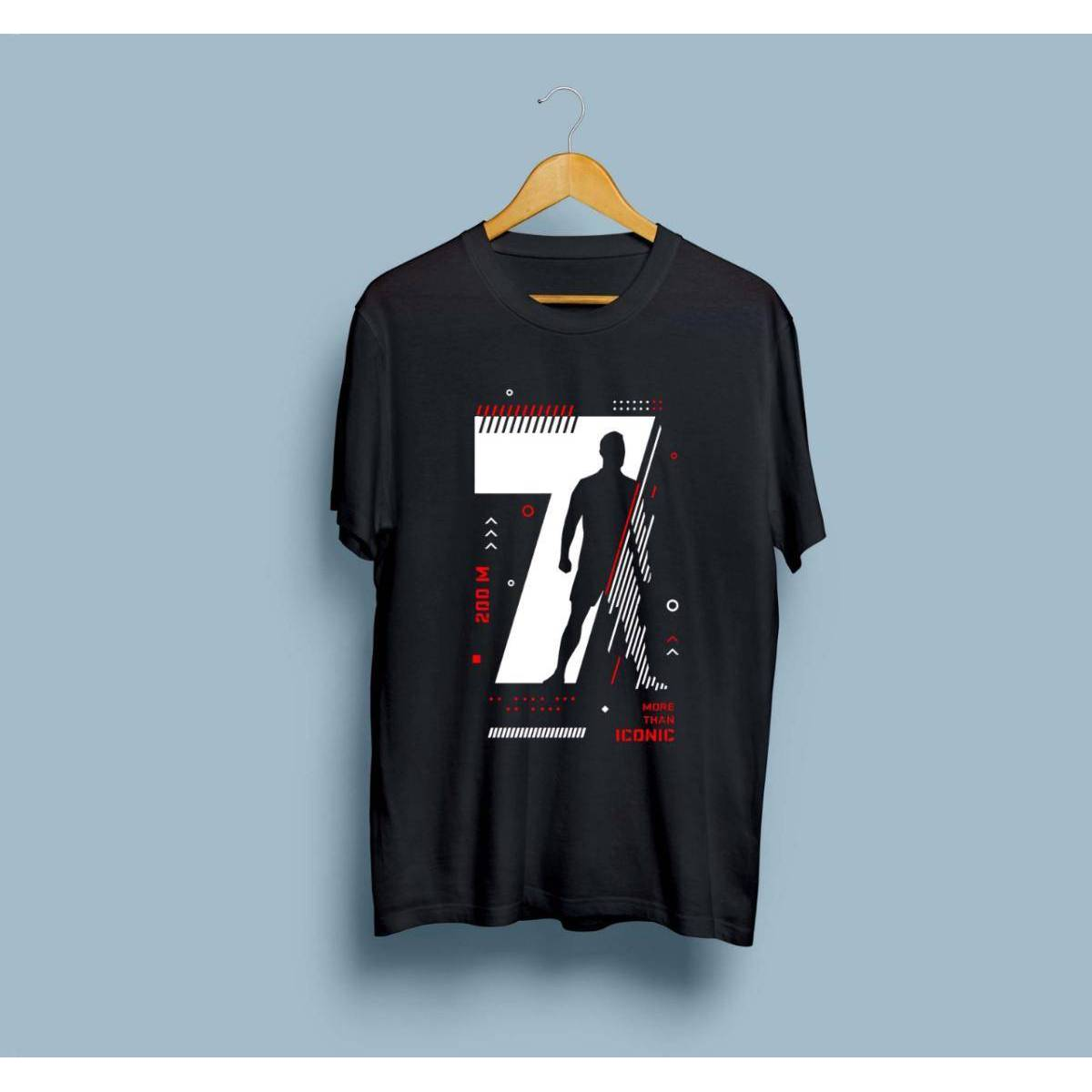 CR7 Printed Tees Round Neck Half Sleeves Summer Casual Wear Shirt Export Quality Tshirt