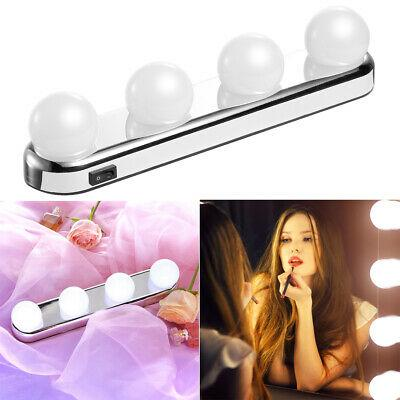 Studio Glow Make Up Light With Bright 4 LED Bulbs Portable Cosmetic Mirror Light