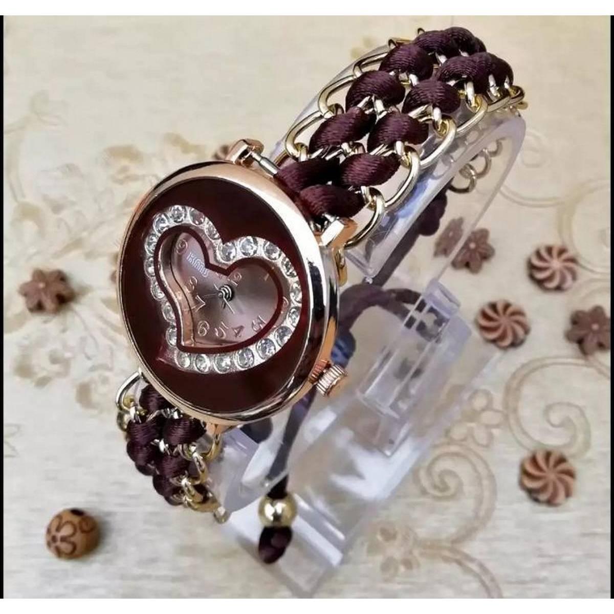 Hanmade Wrist Watch Floral Strap Electric Watch Analog Watch for Women Ladies Girls