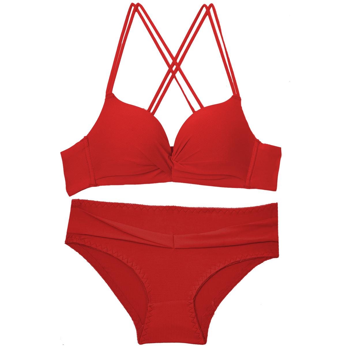 Flourish Seamless Bra Set For Women Underwear Push Up Lingerie Set Wire Free Padded Bra And Panty Set  Intimates Female-6933