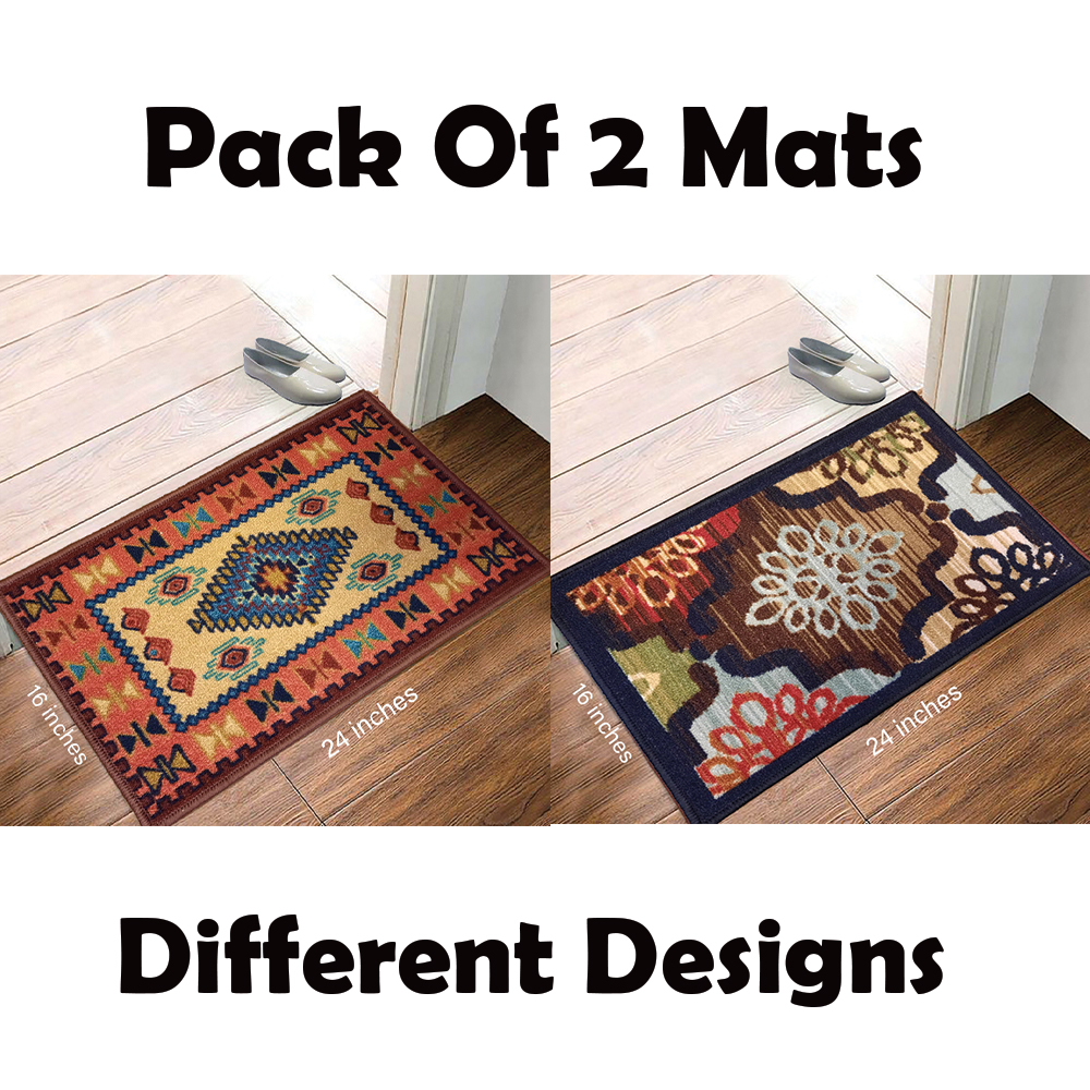 Pack Of 4 Different Dsign  Door Mat  Floor Mat ✓ Entrance Mat  Room Mat - Al Ferash