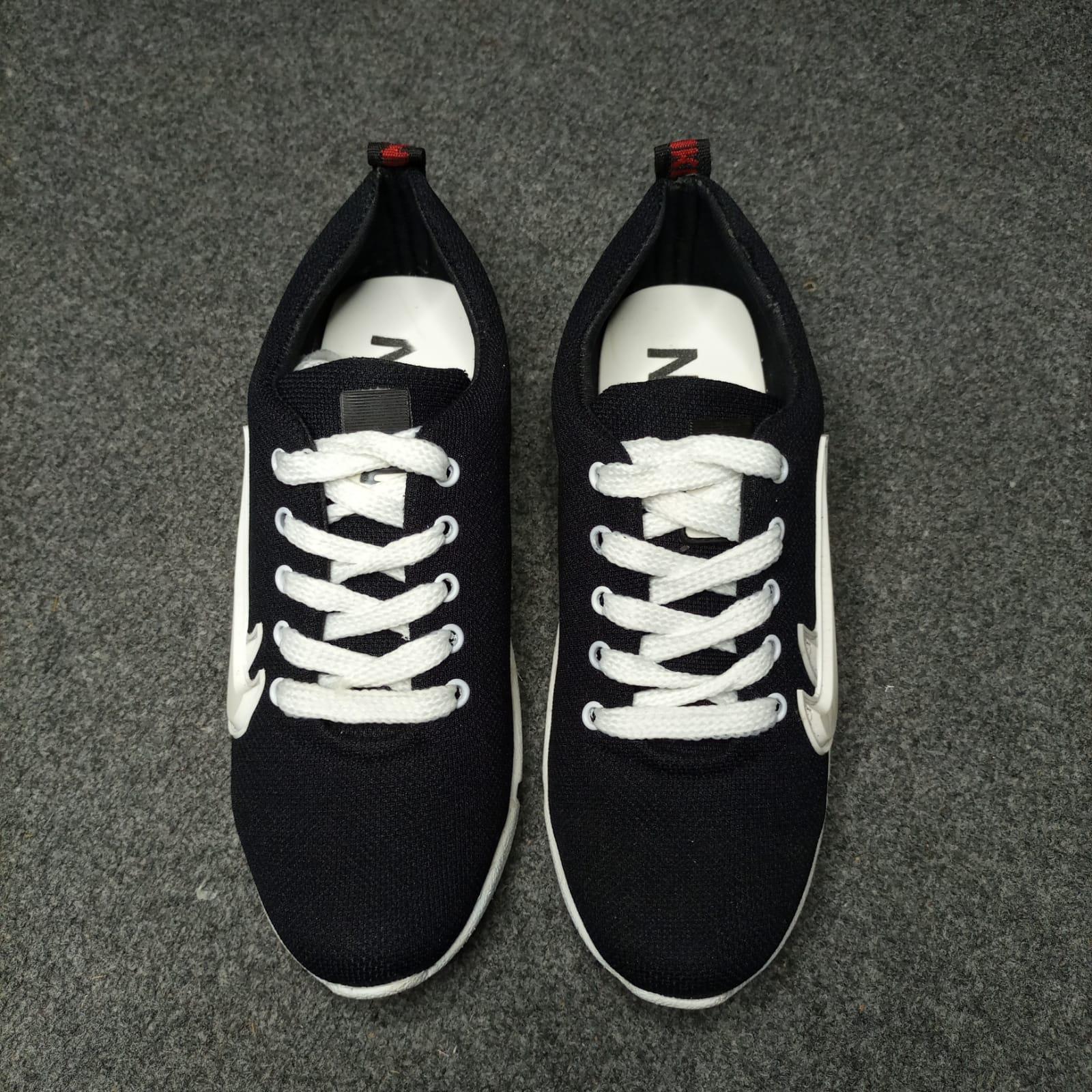 (MK) Dark Blue - Synthetic Material Sneakers for Men HOCK002