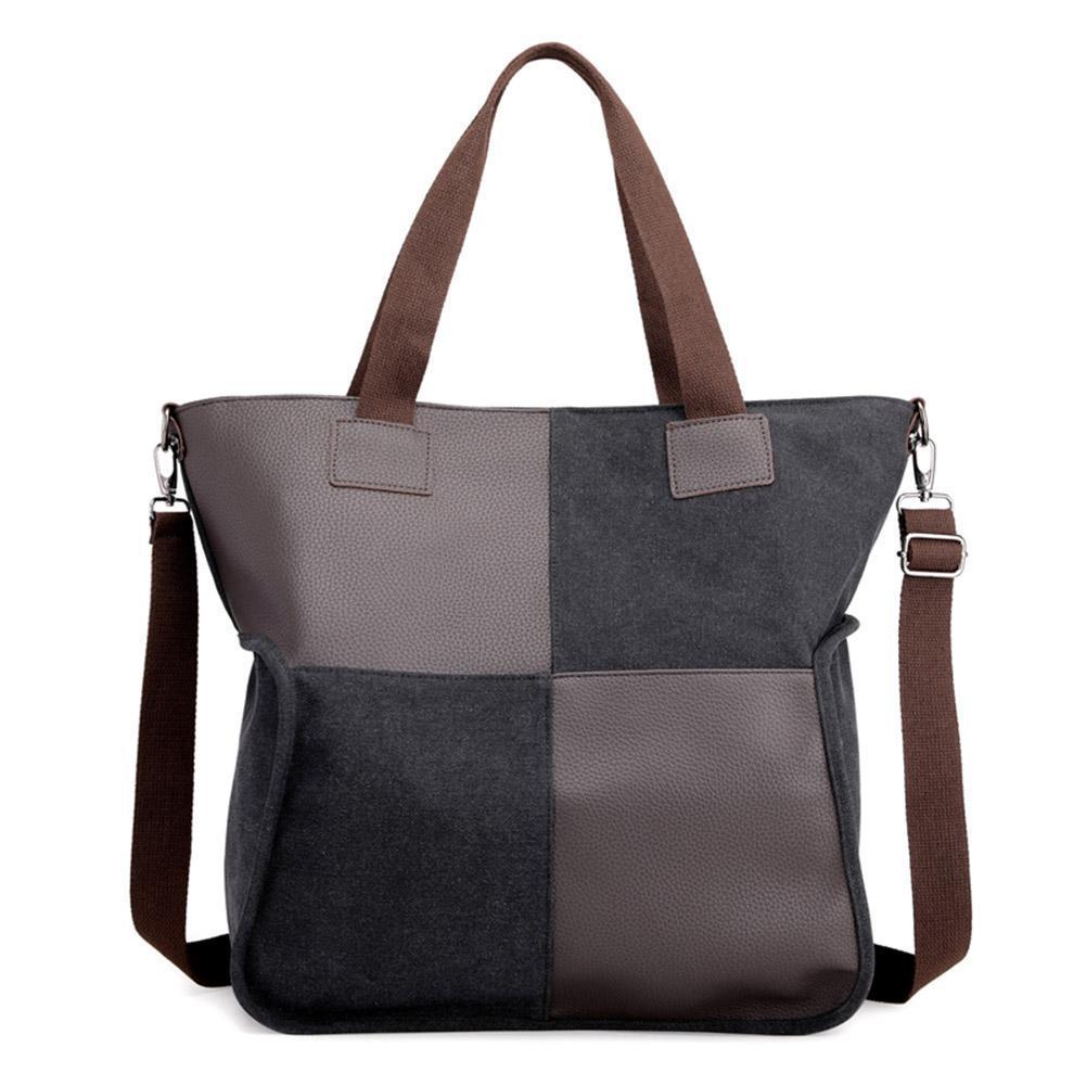 f315a23f174c0b P&L Splicing Shoulder Messenger Handbags Uni Large Capacity Crossbody Bags
