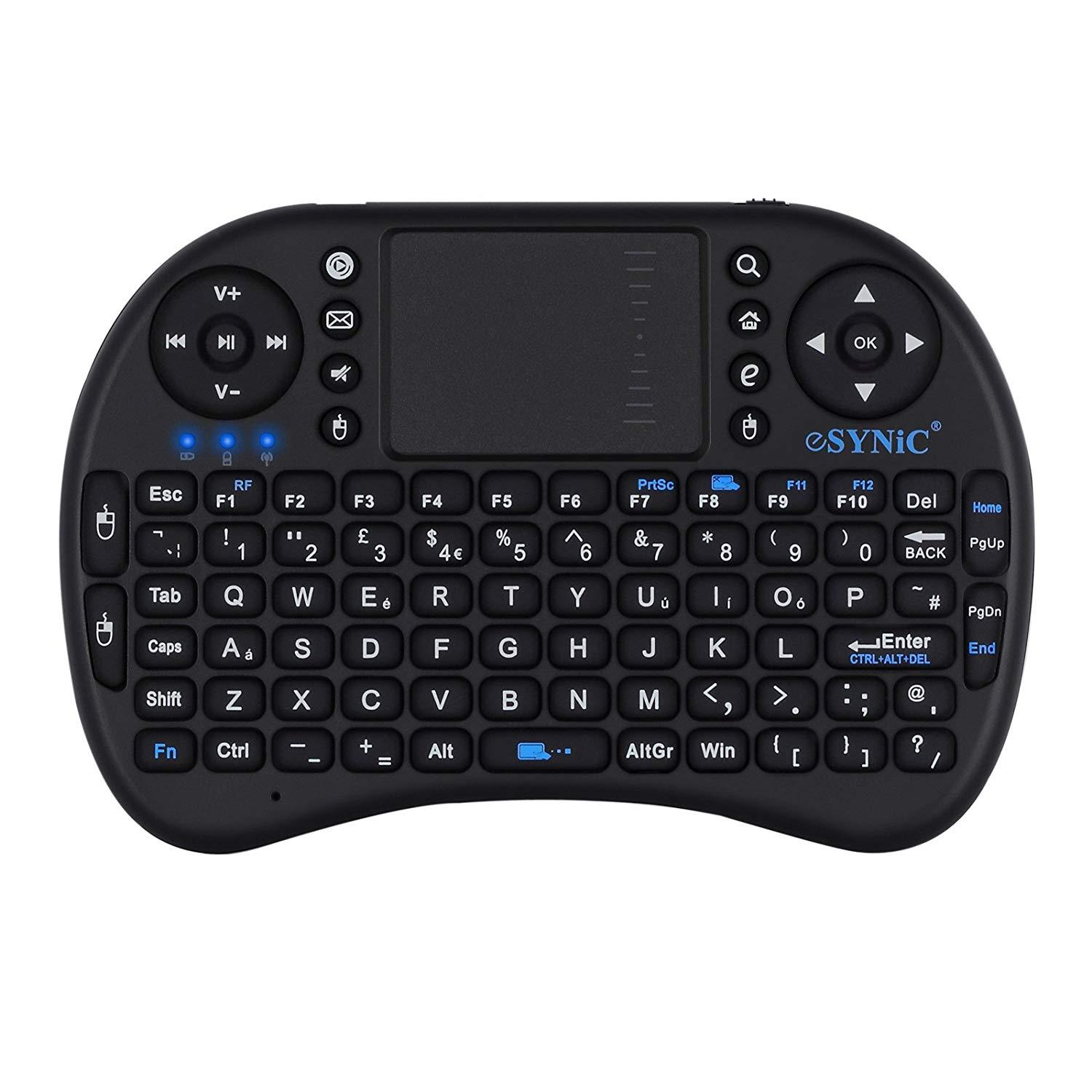 366f091381b Product details of ESYNIC Mini Wireless Keyboard 2.4G with Touch pad Combo  - Multimedia Keys for Smart TVs