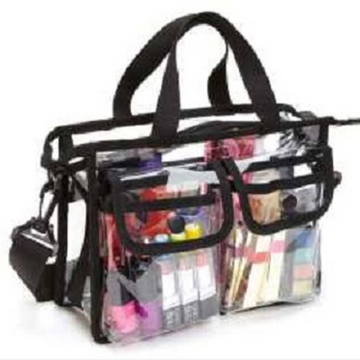 Summer Plastic PVC Transparent Bag Clear Handbag Tote Shoulder Bag Crossbody Bag