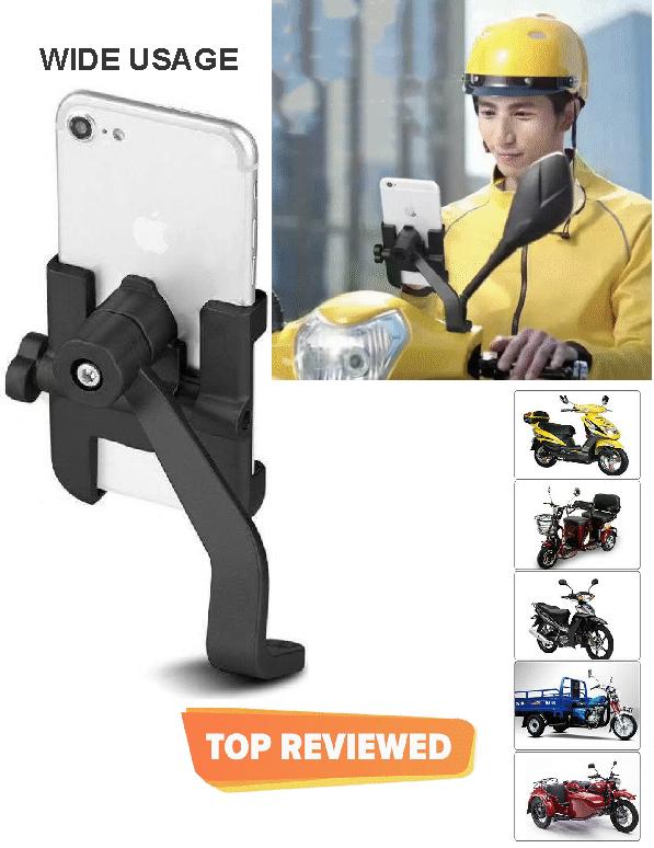 Motorcycle Universal Mobile Cellphone Holder Mount Alloy Motor holder