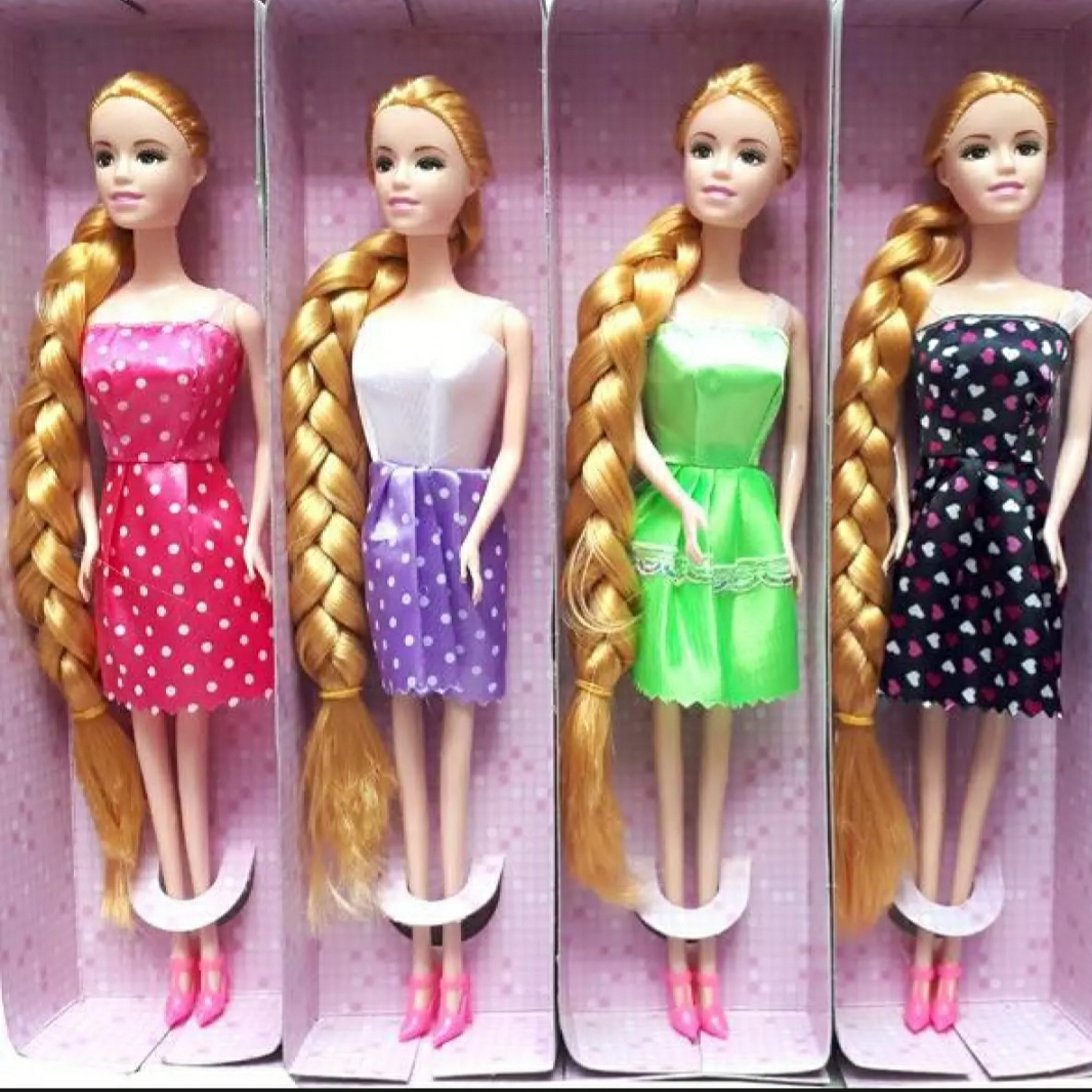 Bendable doll with long hair and heels best Quality