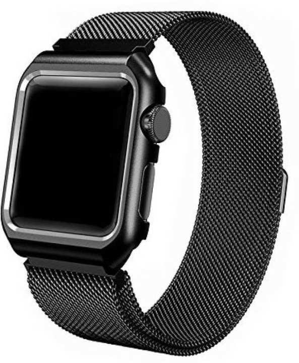 Apple Watch Strap Stainless Steel iWatch 42mm - Black