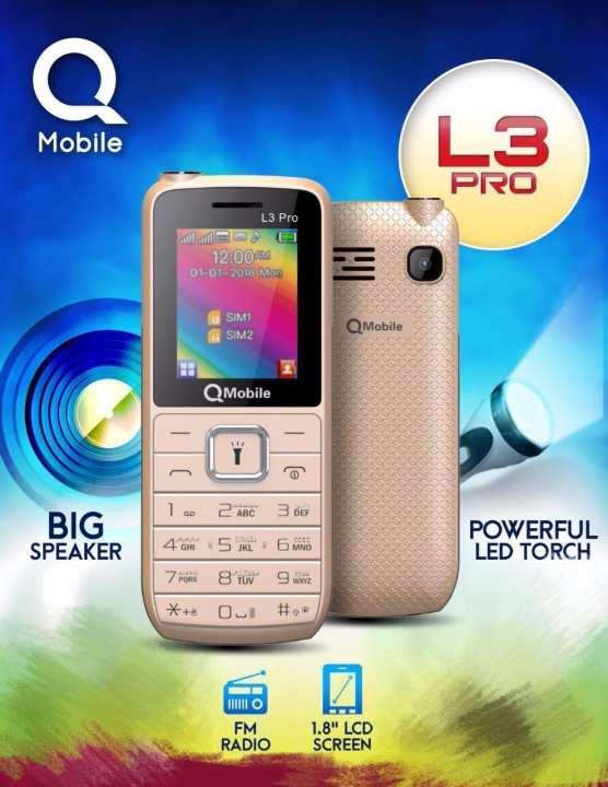 Qmobile L3 Pro, Dual Sim Mobile, Camera, Big Speaker, FM Radio, 1 Year Warranty