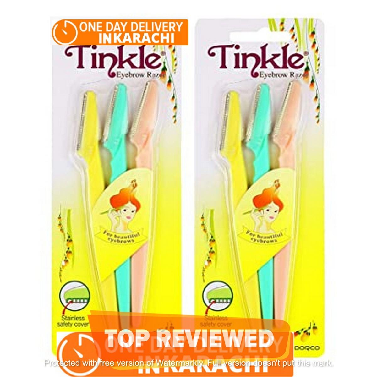 Tinkle Eyebrow Razor FS-Traders 3 Pack, Eyebrow Face Hair Removal & Shaper (3 Pieces)