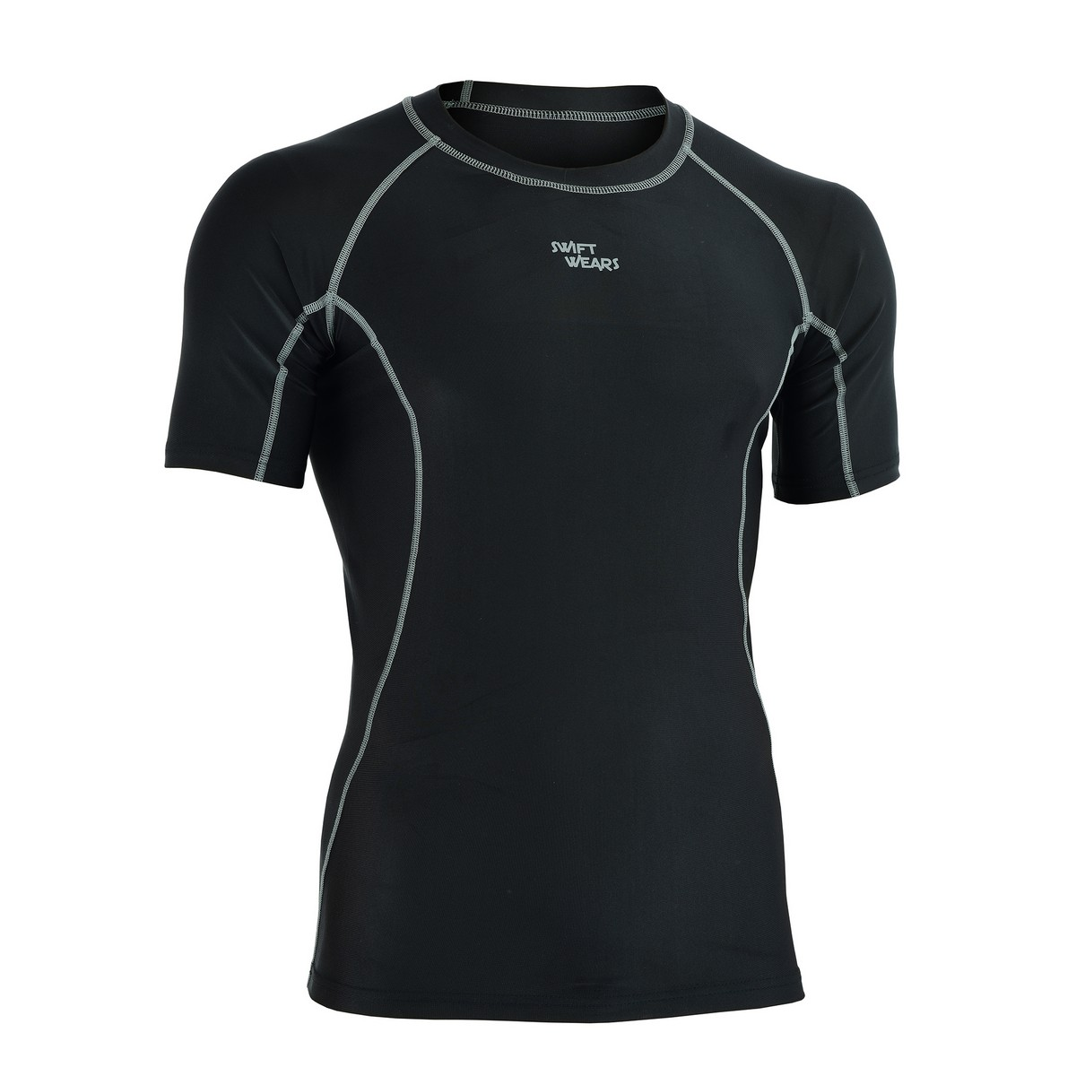 Mens Compression Base Layer Top Half Sleeve Thermal Gym Sports Shirt
