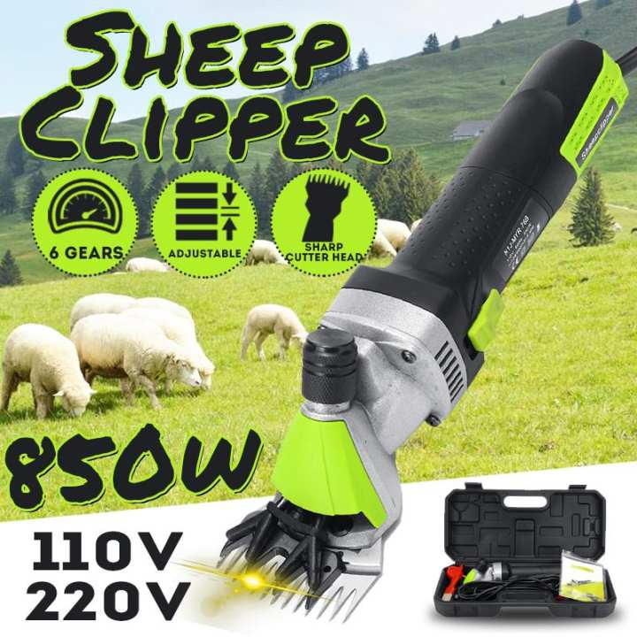 happy-island  【Flash Deal 】850W 110V/220V Sheep Clipper 6 Gears Speed Animal Hair Clipper Farm Machine