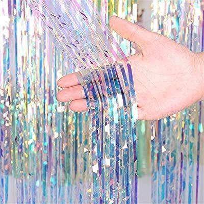 Background foil Curtain Backdrop Metallic Tinsel Curtains Grad Party Foil Curtain
