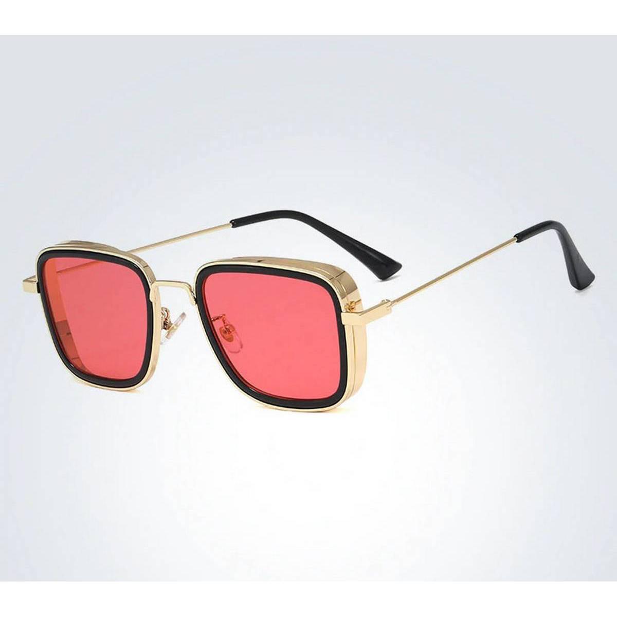 Kabir Singh India Movie Sunglasses Men Square Retro Cool Sun Shades Steampunk Style Sun Glasses for Men Metal Frame