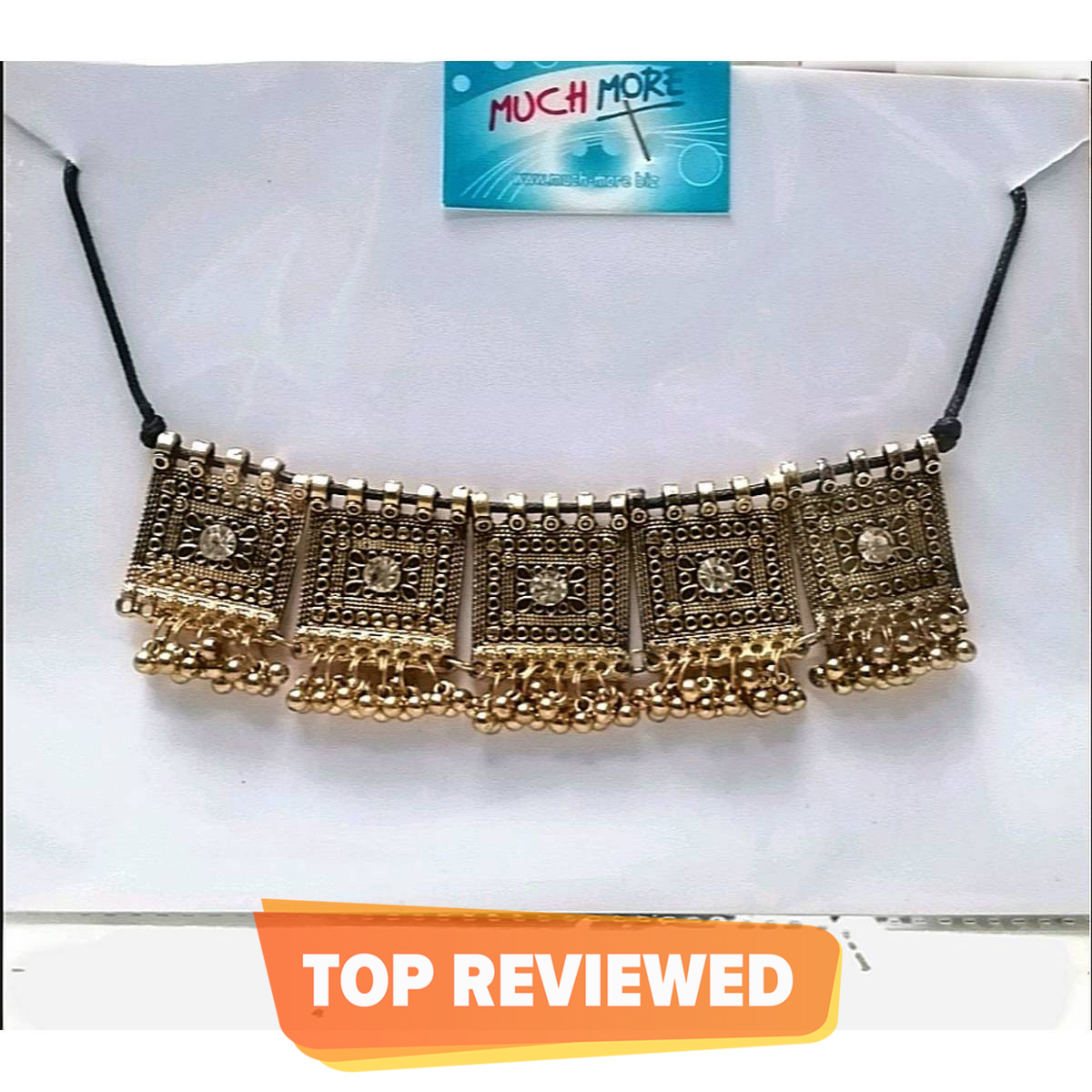 ANTIQUE AFGHANI CHOKER FOR ALL AGES GOLD