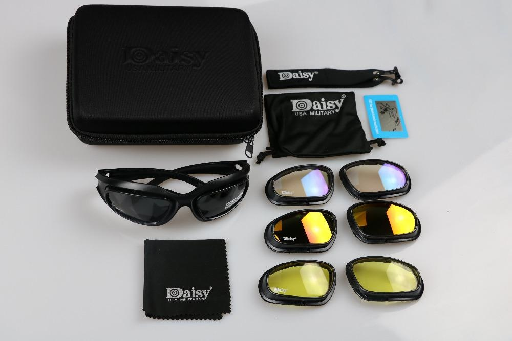 530e447a0d Specifications of Sport Hunting Ride Daisy C5 Army Goggles Military  Sunglasses 4 Lens Kit Men s Desert Storm War Game Tactical Glasses