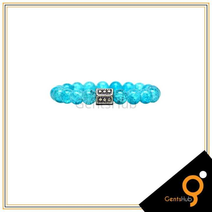 Feroza Crystal Beads Bracelet For Men