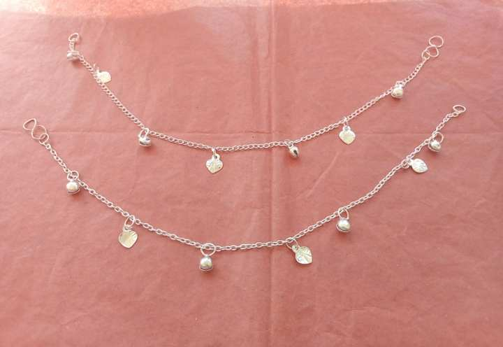 Pure Silver Simple Payal for women