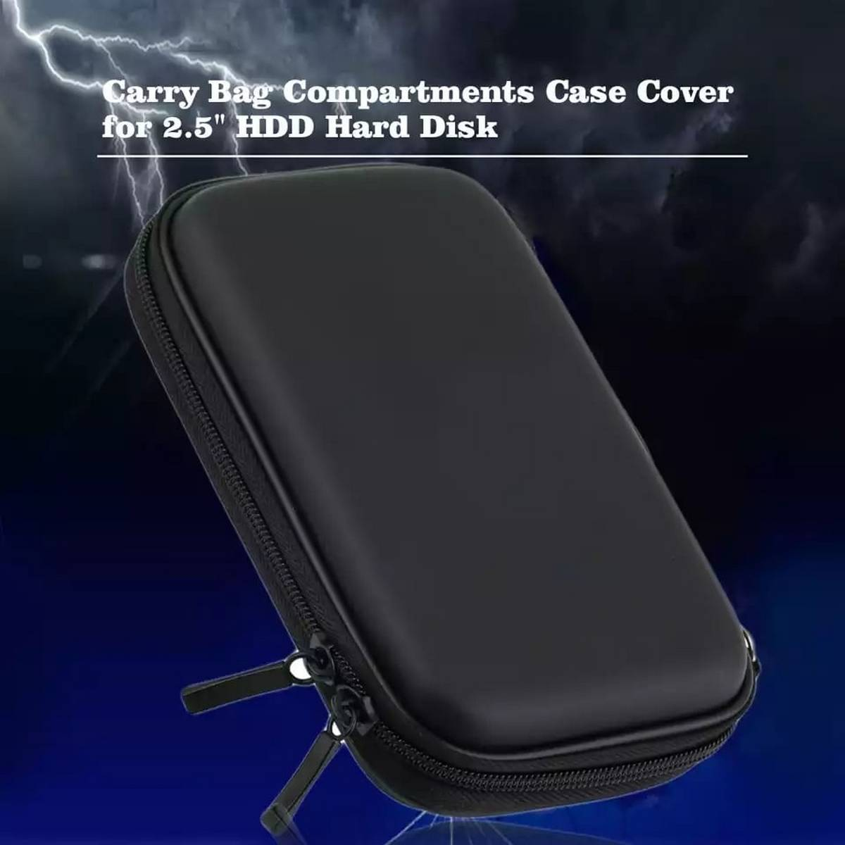 External Hard Drive Pouch Carrying Case Bag For Power Bank  and Mobile Accessories