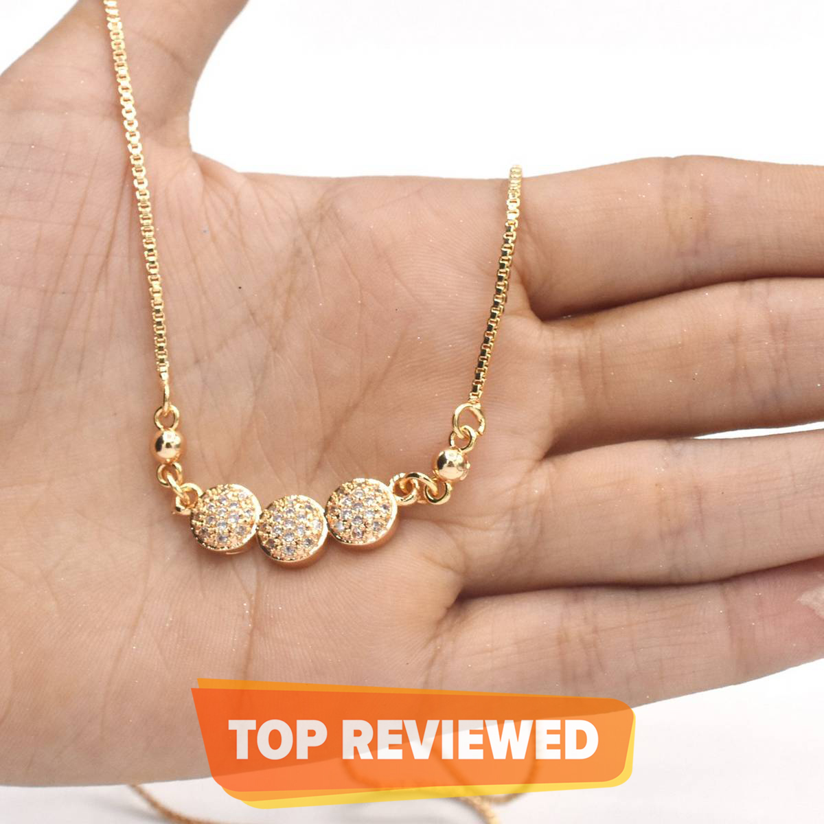 Gold Color Rhinestone Pendant Long Chain Necklaces For Women Girl Gift