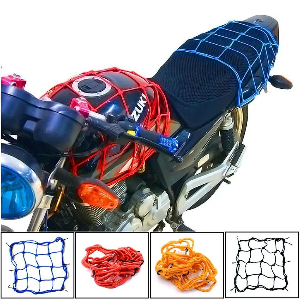 Motorcycle Bike Helmet & Luggage Tuck Net Elastic String Bag Cargo Cover