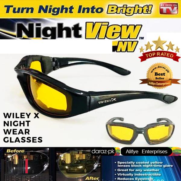 Original Fantastic Wiley X Night Vision Glasses Day Night Vision Glasses Specially Bikers,Riders,Drivers.