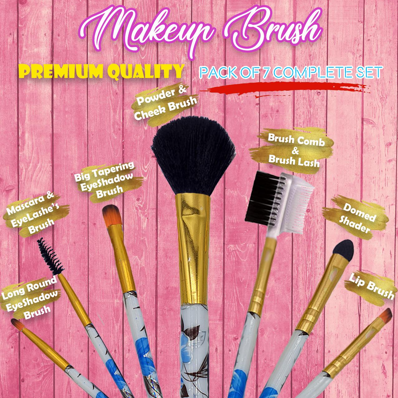 Makeup brushes- Pack of 7- High Quality Makeup brushes set-Premium Makeup brushes