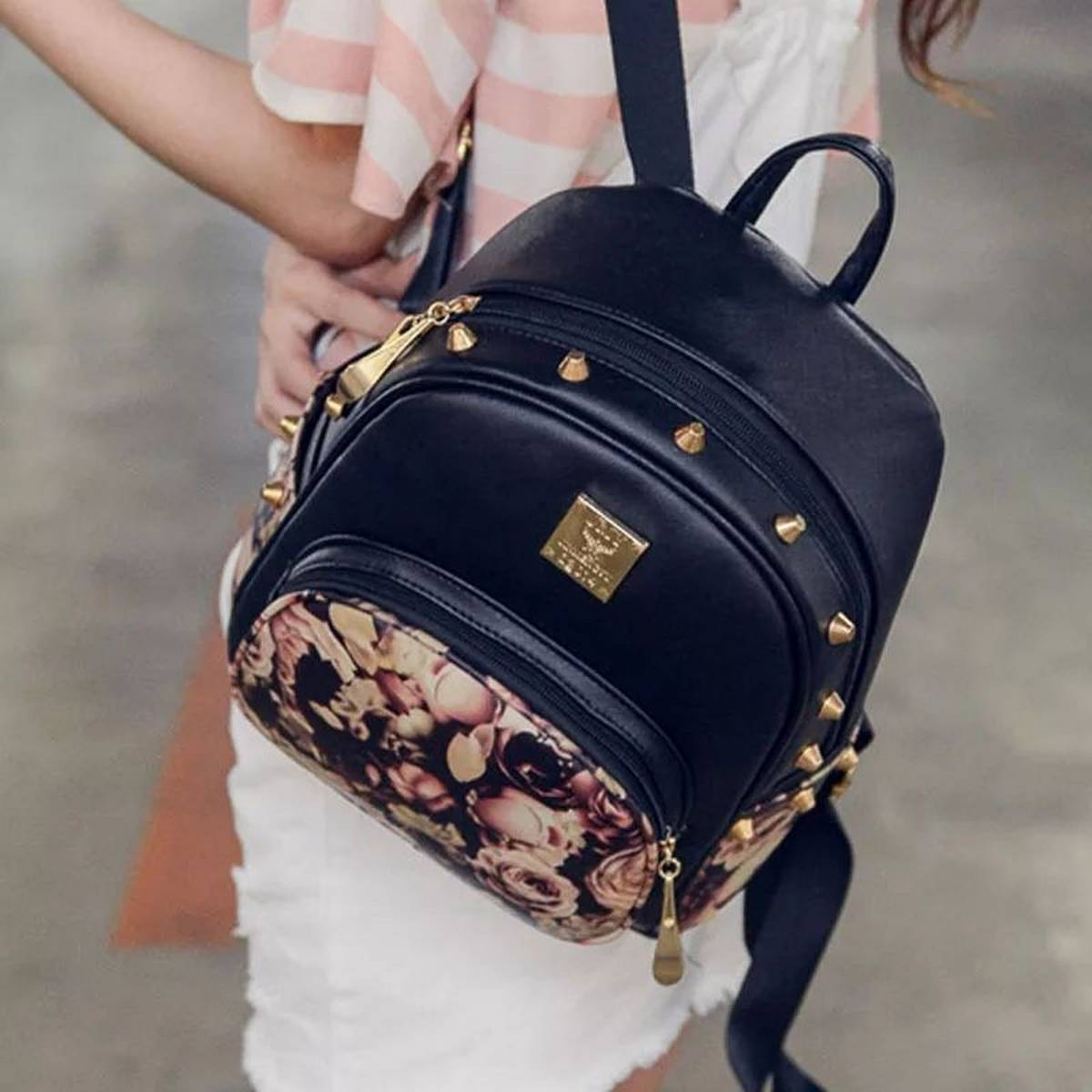 Stylish PU Leather Back Pack For Women