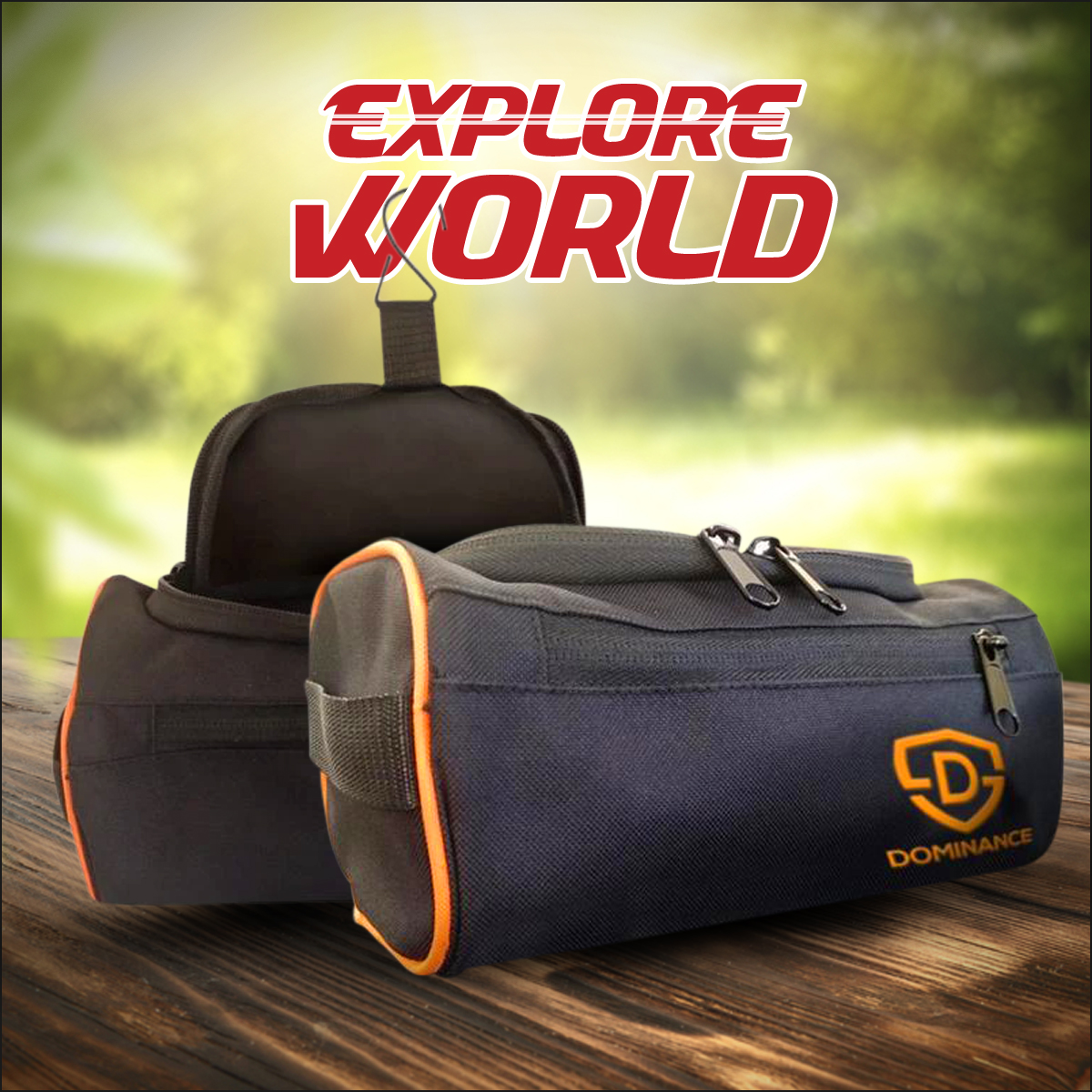 High Quality Toiletry Bag Men/Women travel Accessories with hanging option