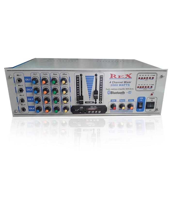 Rex 4 Channel Mixer 2000 Watts Amplifier