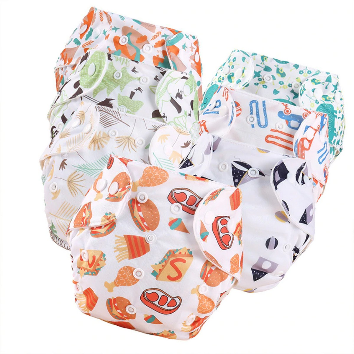 High Quality Imported 1Pcs Baby Adjustable Reusable Cloth Diaper Nappies Washable Nappy Newborn Cloth Diaper Children Eco-friendly Adjustable Training Pants Diaper Cover Fit for 0-2 Years Infants Toddlers